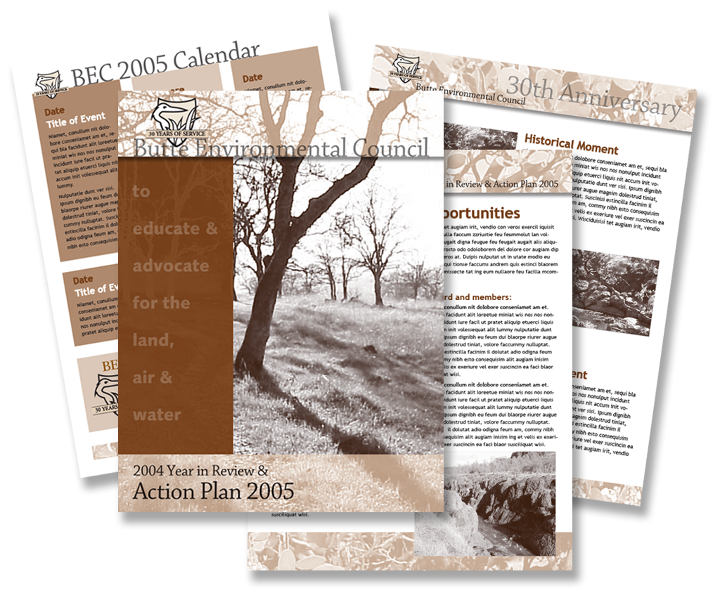 Butte Environmental Council annual report & templates