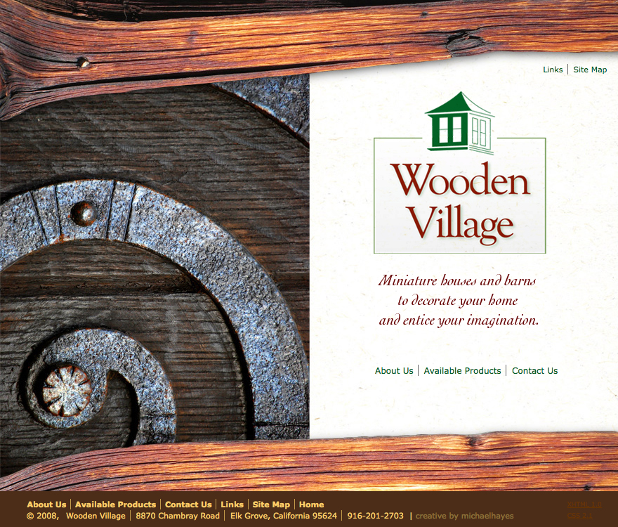 Wooden Village web