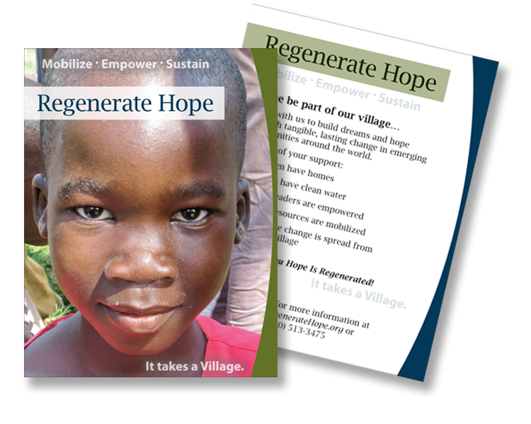 Regenerate Hope postcard